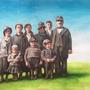 1934 - aus der Familiengeschichte, 2019, 0 (49x64), Farbstift + Aquarell / Aquarellpapier