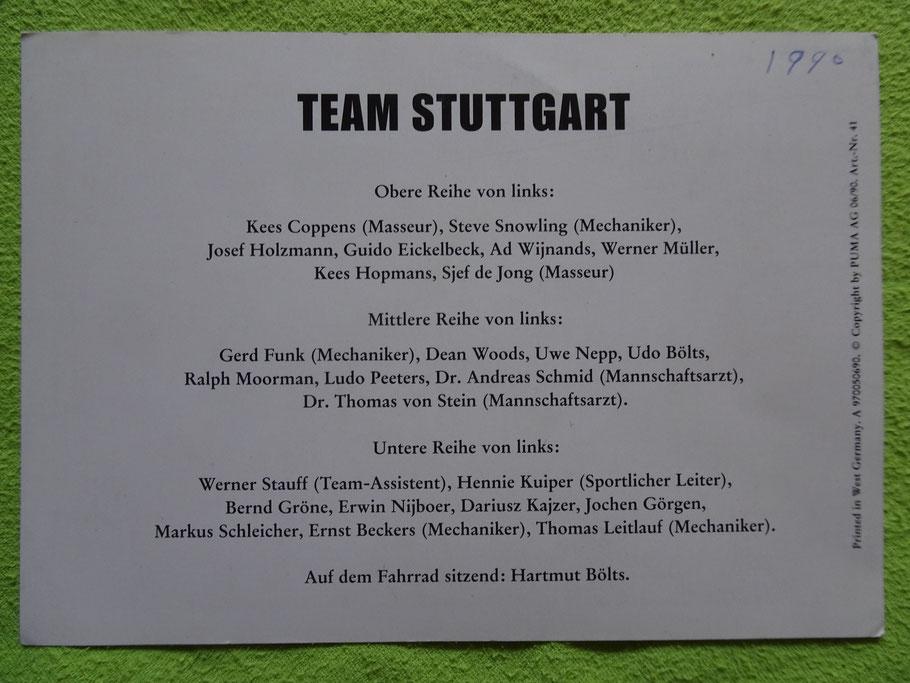 Die Personen im 1990er Team