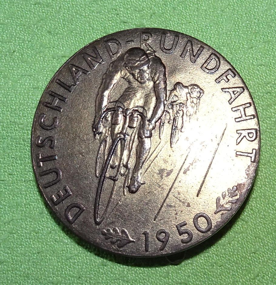 Anstecker zur Deutschland-Rundfahrt 1950