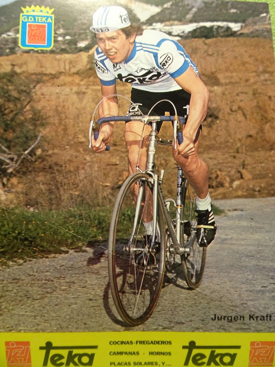 Jürgen Kraft - aus Buseck bei Gießen. 1978 und 1979 fuhr er bei der spanischen Mannschaft Teka.