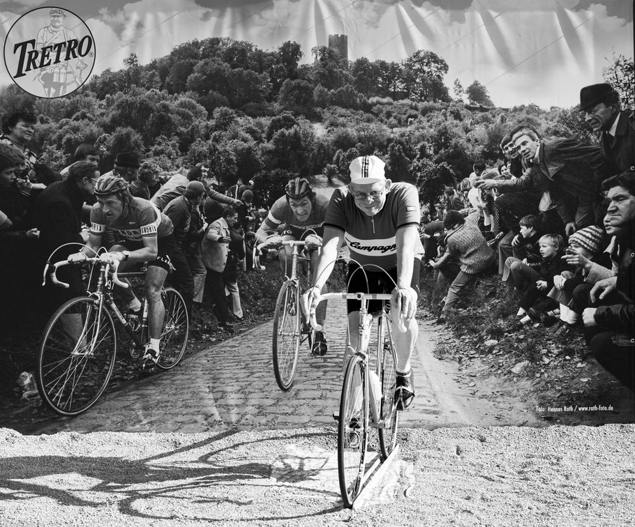 Auch das wäre eine schöne Geschichte  ...........   Franceso Moser und Freddy Maertens an meinem Hinterrad :-)
