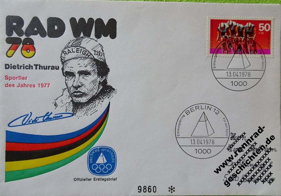 Erstagsbrief zur Rad WM 1978