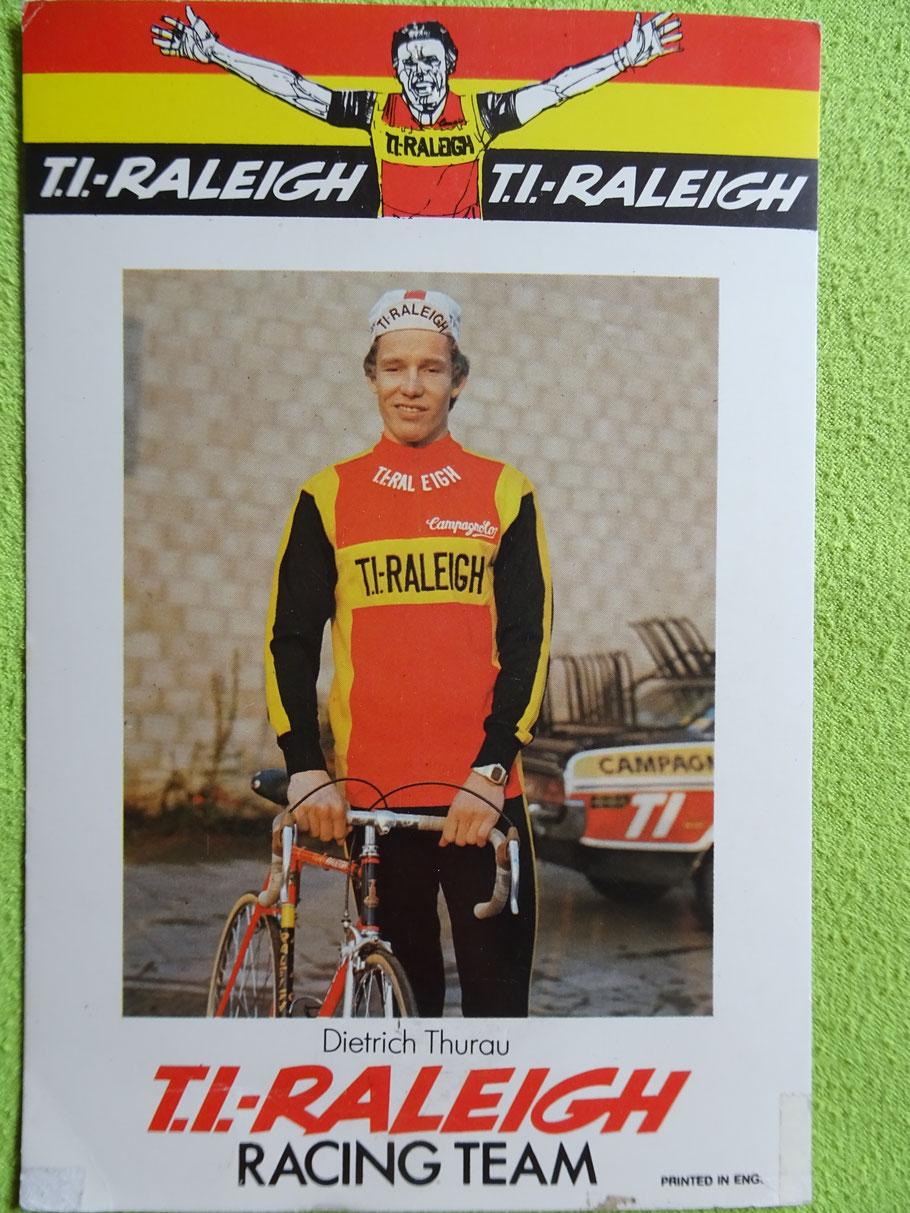 Didi - der Frankfurter Bub - sein erstes Team als Profi, für das er fuhr, war von 1974 - 1977  TI Raleigh