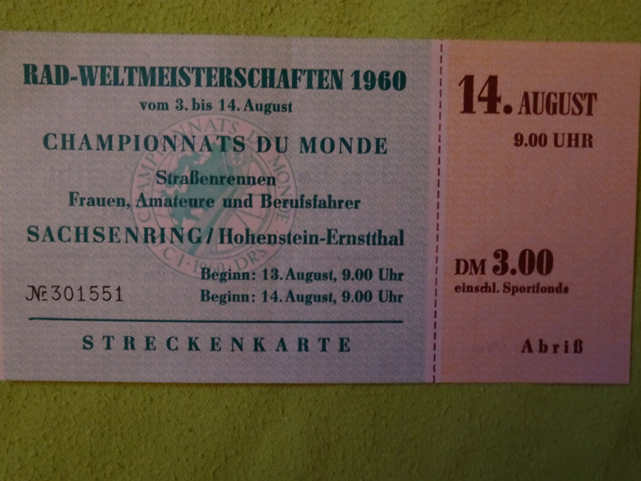 Originale Eintrittskarte