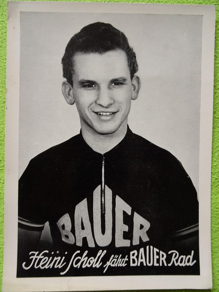 Heini Scholl - Fahrer im Bauer-Team