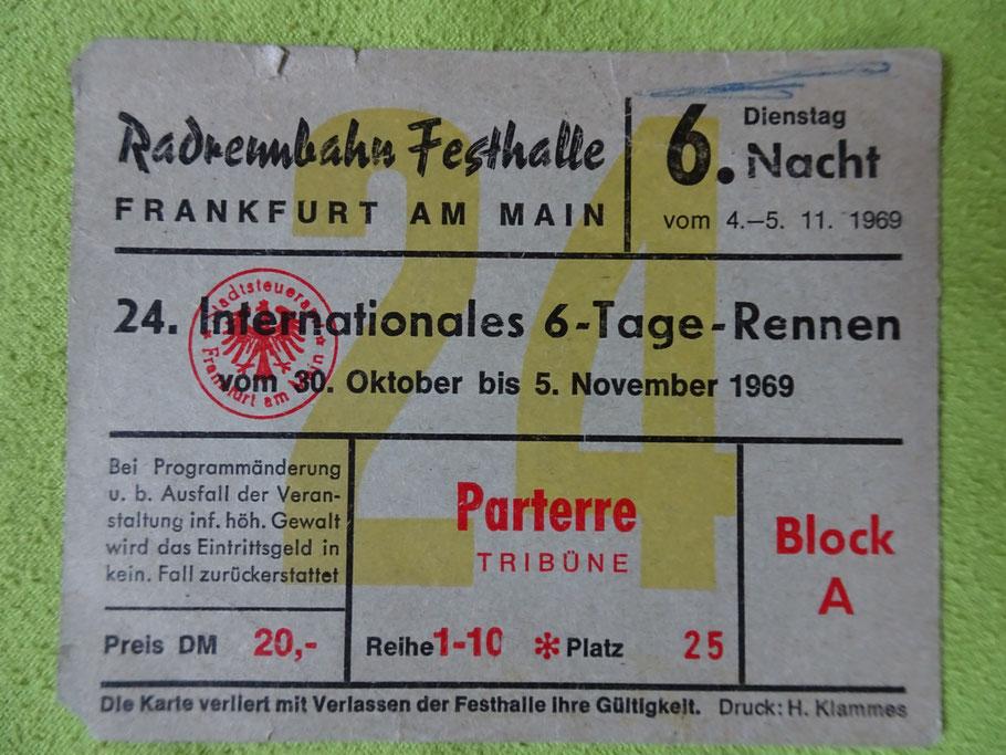 Eintrittskarte von 1969 (allerdings nicht von einem meiner Besuche ;-)