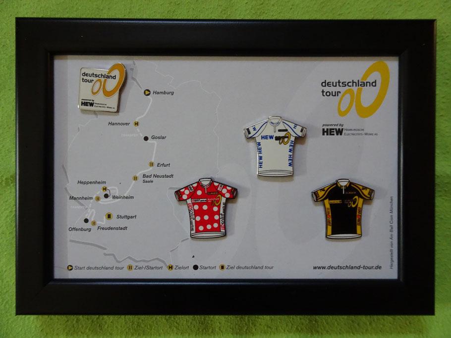 Pins und Streckenführung der 2001er Deutschland Tour