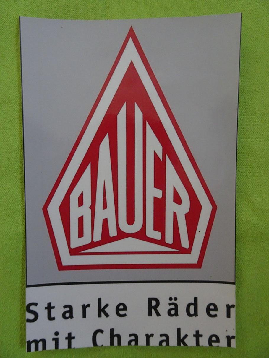 Der Werbe-Slogan der Bauer-Werke