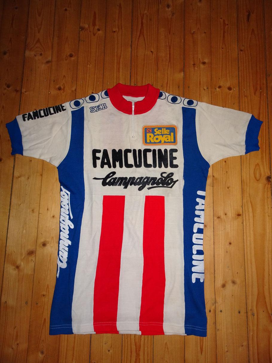 Famcucine 1981 - ein italienischer Profirennstall u.a. mit Francesco Moser und Gregor Braun  ......................... (Vorderseite)