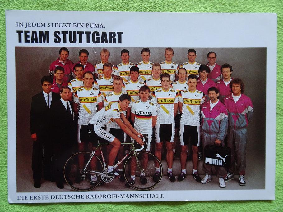 Ein Teamfoto von der Mannschaft aus 1990