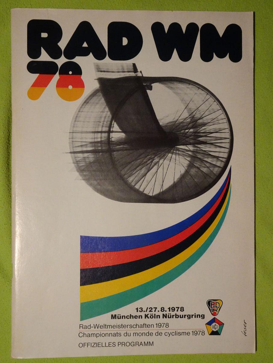 Das offizielle Programm zur WM 1978