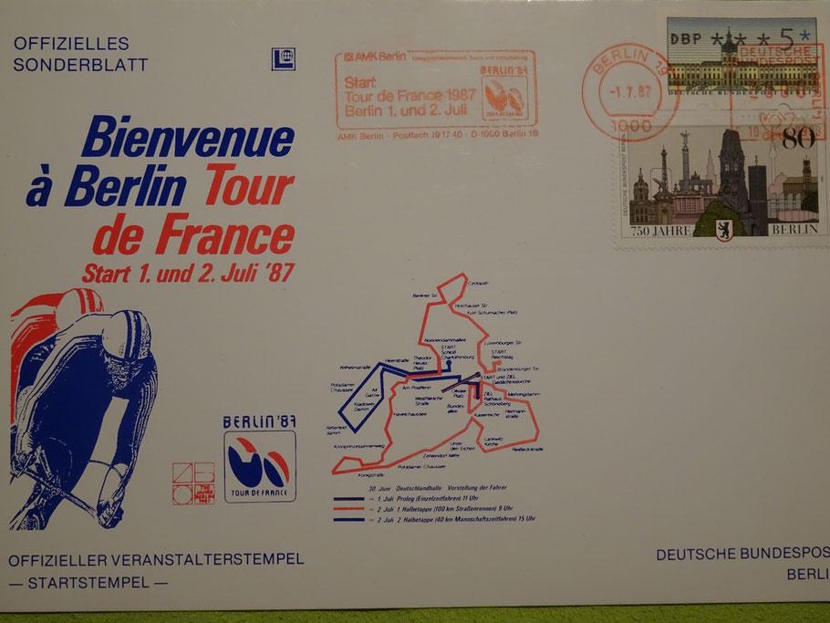 Offizielles Ersttagsblatt zum Tour-Start in Berlin