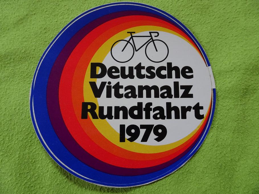 """1979 - ein Aufkleber zeugt von der """"noch"""" vitalen Deutschlandrundfahrt"""