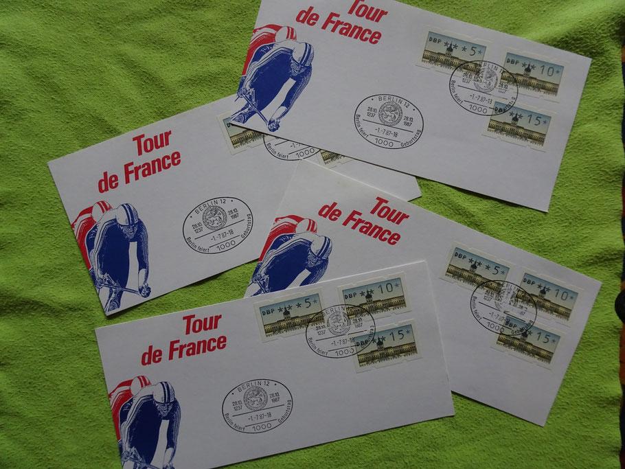Postkarten und Sonderstempel  vom 01. Juli 1987