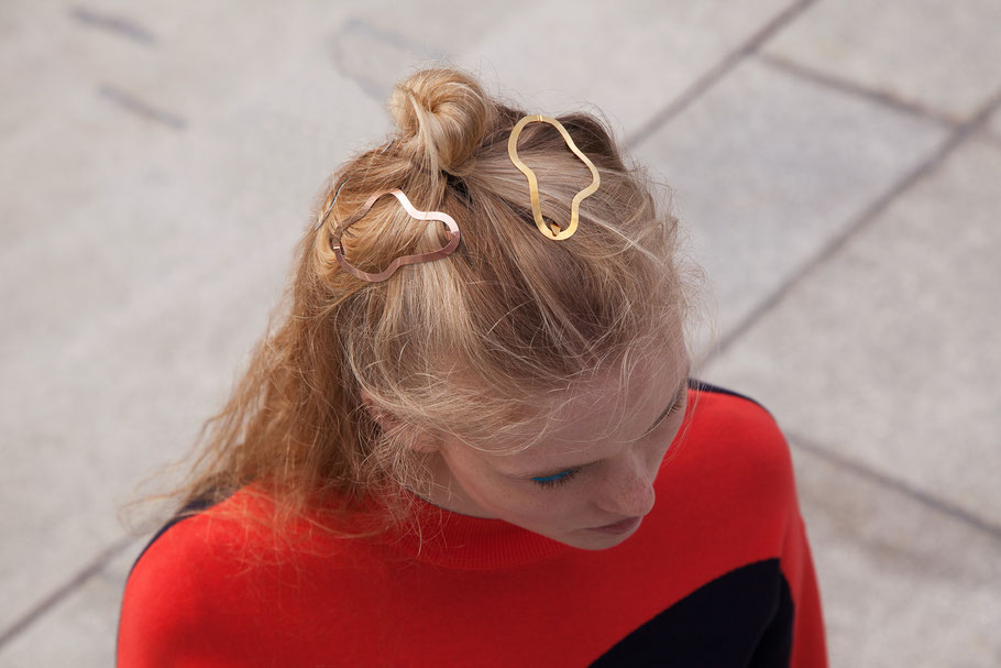 CLINQ Edition #05: SIMONE; contemporary hair jewelry; hair clips; barrettes