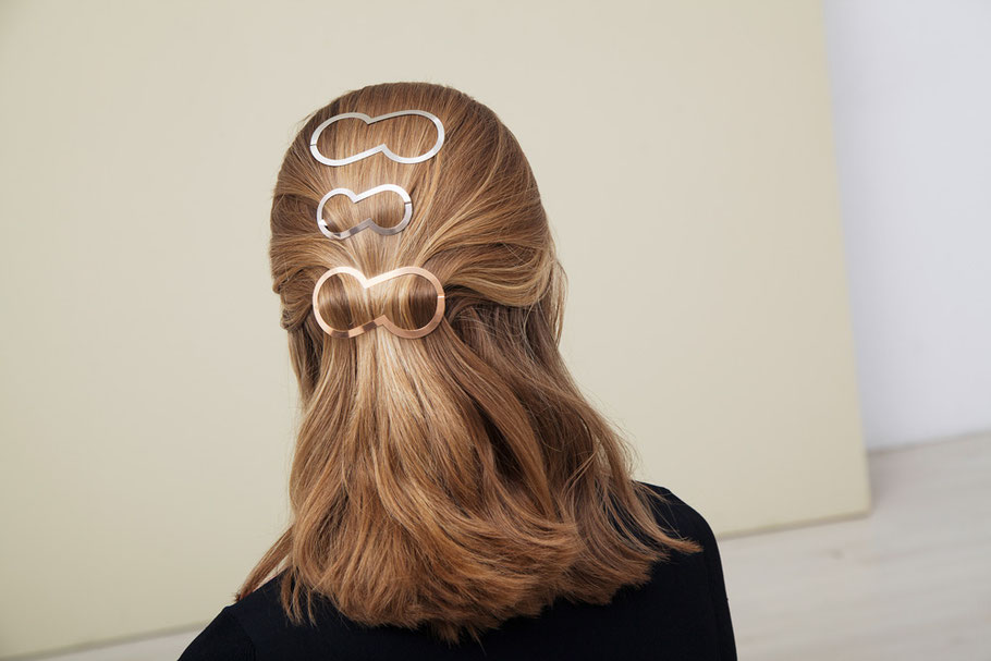 CLINQ Edition #08: KIM; contemporary hair jewelry; hair clips; barrettes