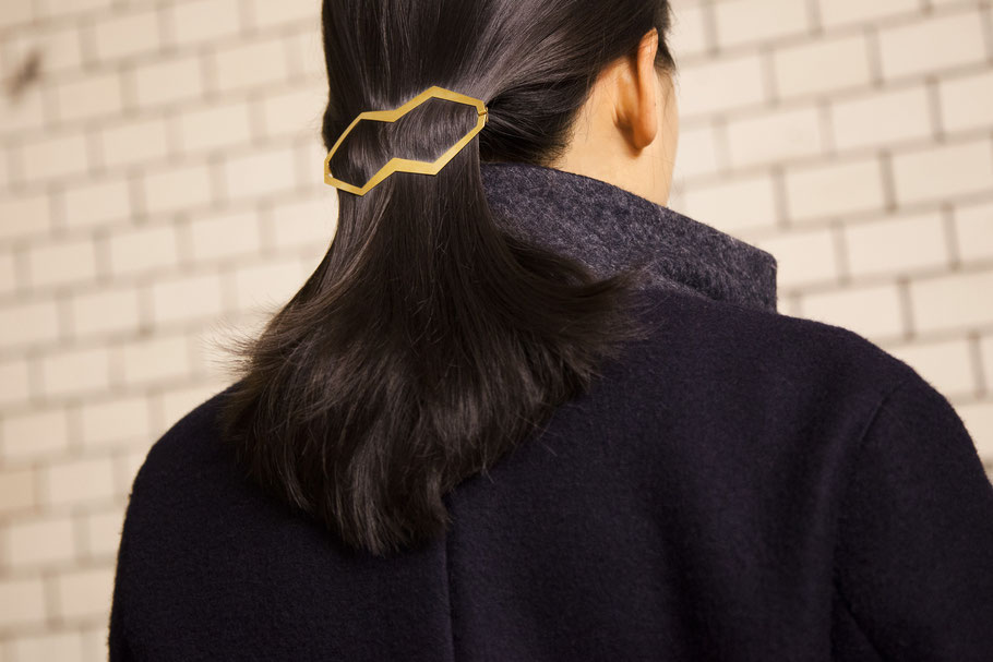 CLINQ Edition #01: HANYA; contemporary hair jewelry; hair clips