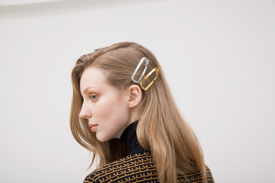 CLINQ Edition #07: TILLY; contemporary hair jewelry; hair clips; barrettes