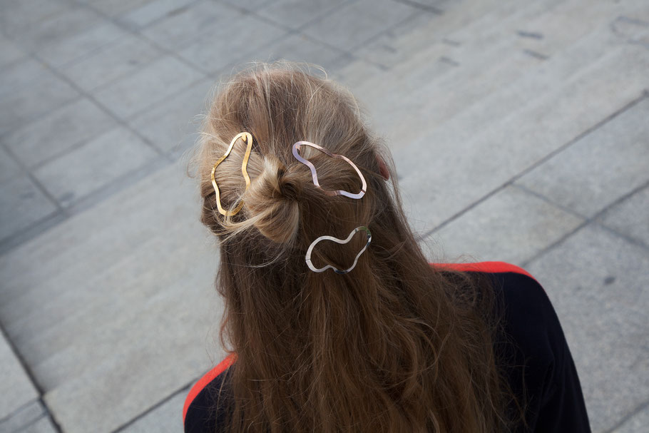 CLINQ Edition #05: GRETA; contemporary hair jewelry; hair clips; barrettes