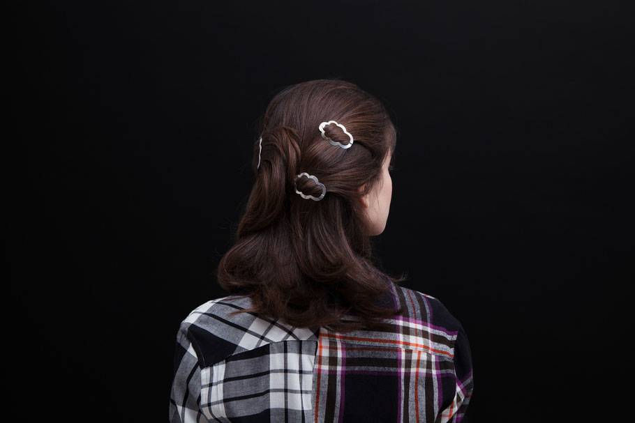 CLINQ Edition #03: CAMILLE; contemporary hair jewelry; hair clips; barrettes
