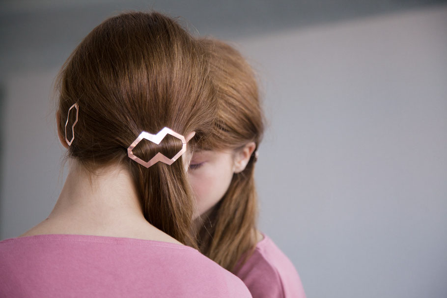 CLINQ Edition #03: DORA; contemporary hair jewelry; hair clips; barrettes