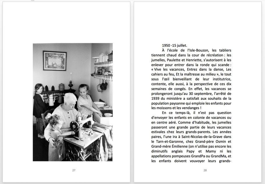 CHASSÉ-CROISÉ DE SOUVENIRS, de Sara Libera (extrait)