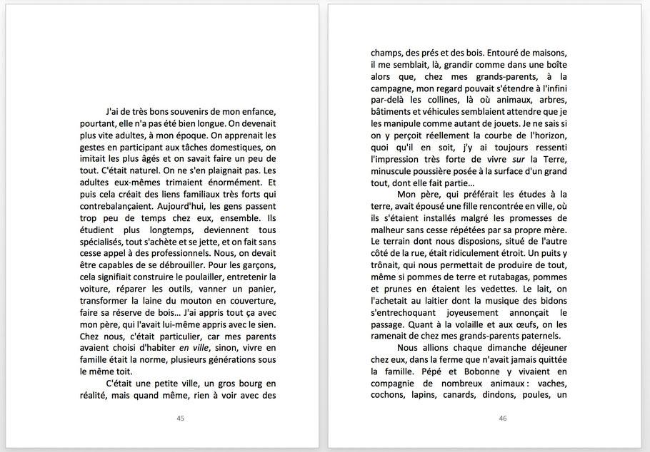 BRIBES D'ENFANCE, de Réjane Peigny (extrait)