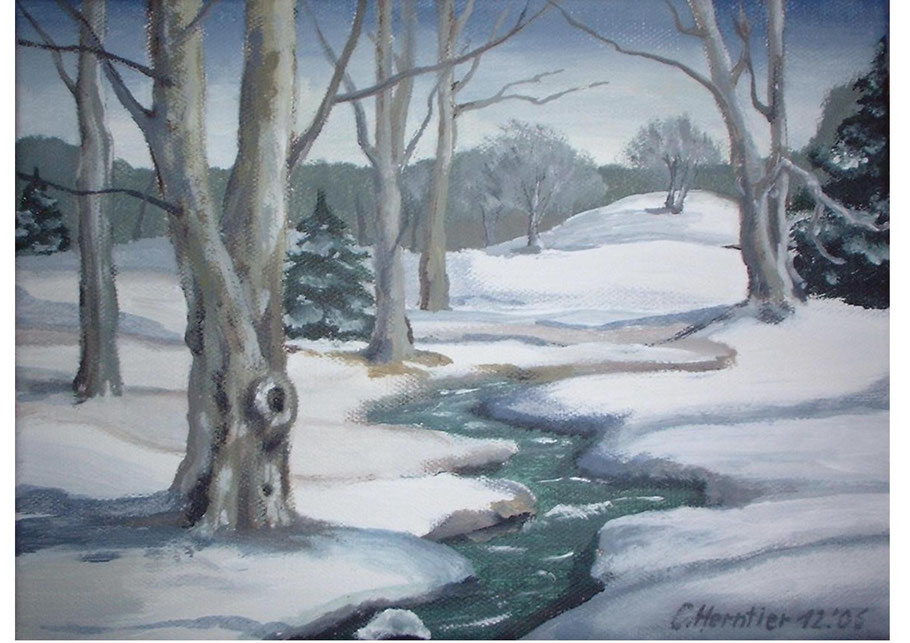 Winterlandschaft, Acryl, 2005