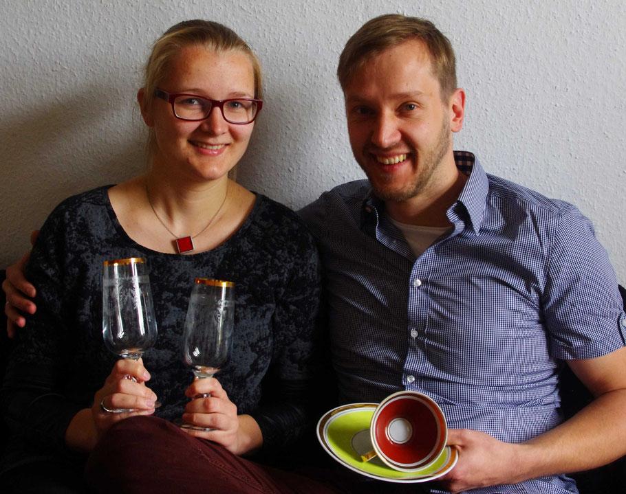 Luisa und ihr Freund mit ein paar ihrer Schätze, Foto: M. Steuer