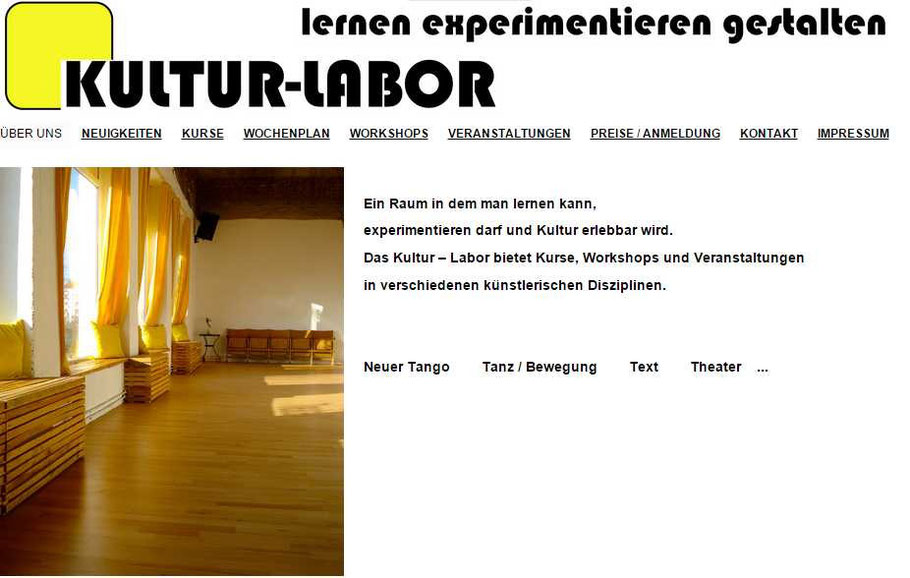 Screenshot: kultur-labor.org
