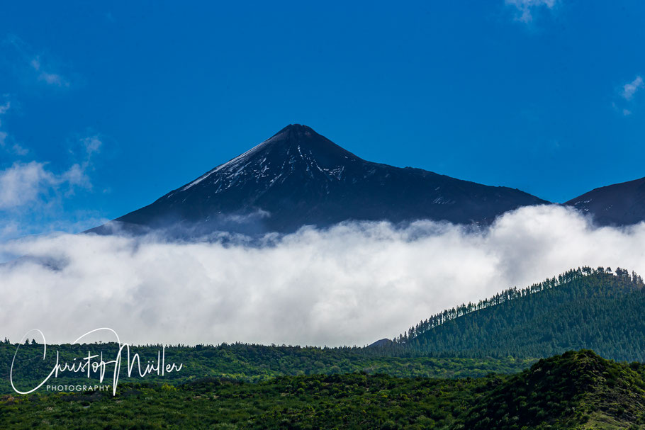 Pico del Teide the highest mountain of Tenerife and Spain.