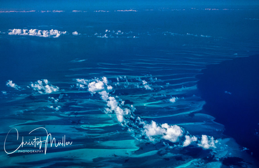 Carribbean Sea from above the winter habitat for humpback whales