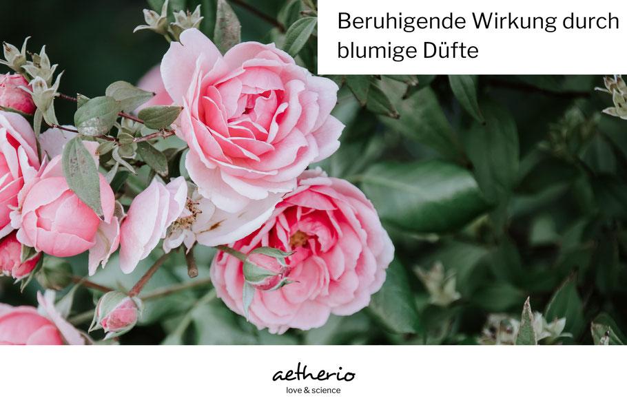 Blumige Düfte in der Aromatherapie - für Wohlbefinden, Entspannung und Selbstliebe - aetherio.de