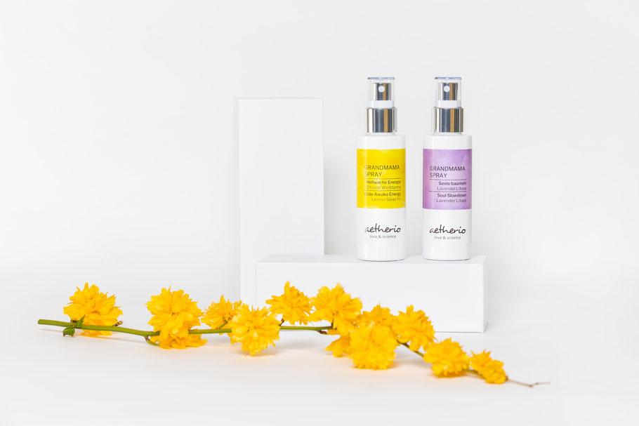 Grandmama Sprays helfen Großeltern beim Wohlfühlen - mit der natürlichen Kraft von ätherischen Ölen - aetherio.de/journal