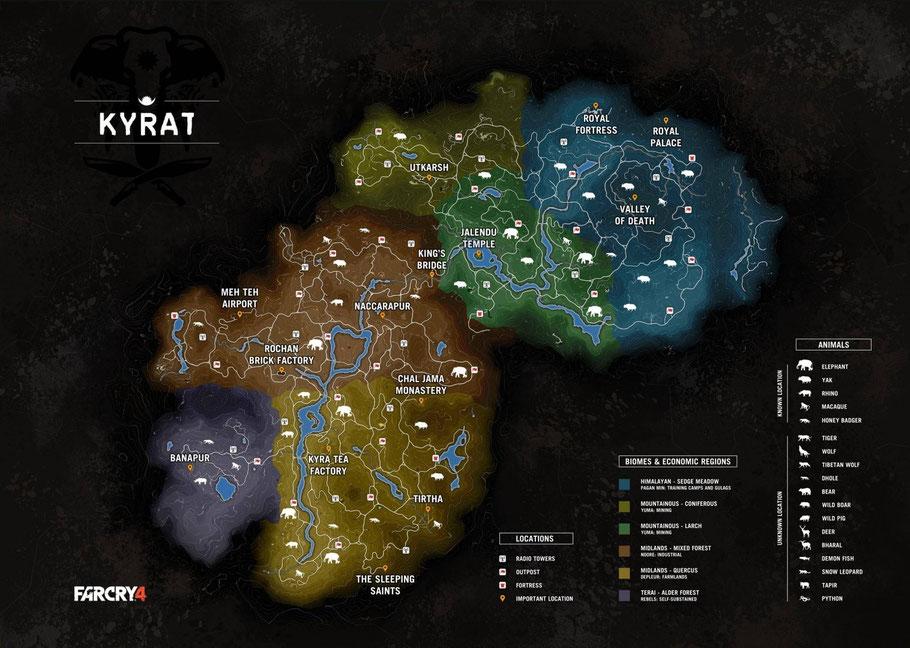 Carte de Far Cry 4.