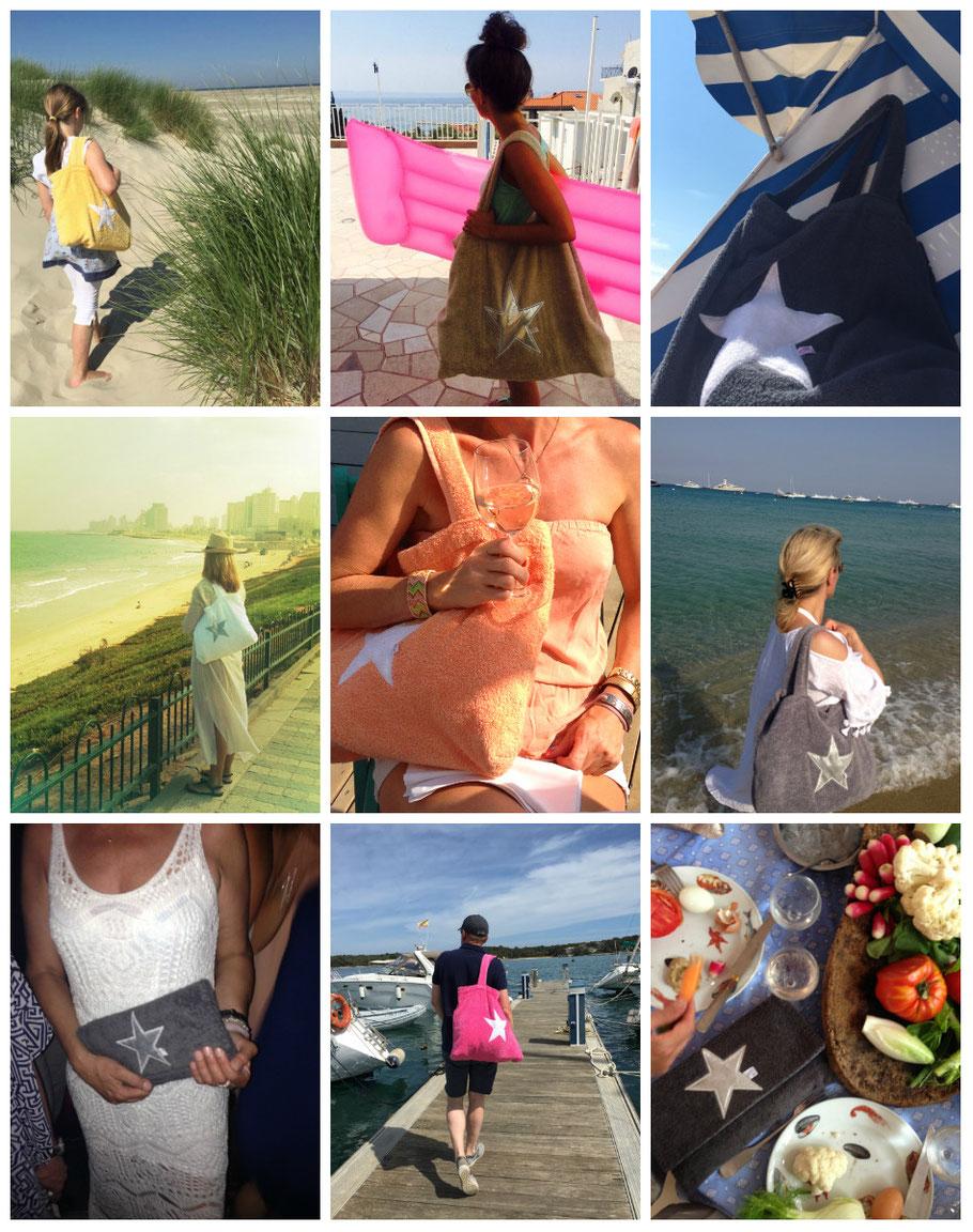 BYRH Strandtaschen - Urlaubsfotos Sylt, Mallorca, St.Peter, Ibiza, Norderney