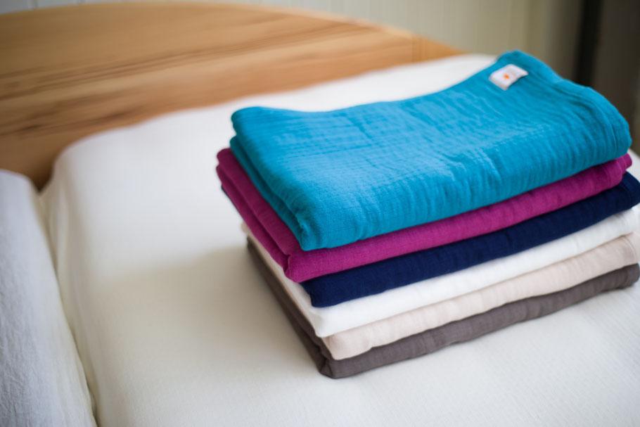 Hippopotamus | Gauze Ket | 140☓200cm | 認定有機栽培綿85%・再生竹繊維15% | ¥20,000+tax