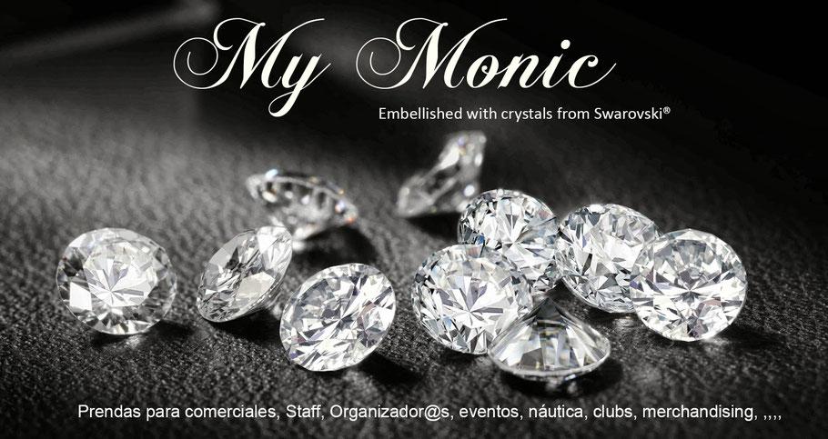 #My monic, empresa de moda que realiza diseños de ropa con cristales de Swarovski.