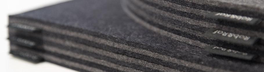 Rob&Raf Designer Sitzkissen Sitzunterlagen modern minimalistisch Minimalismus Grau Graphit