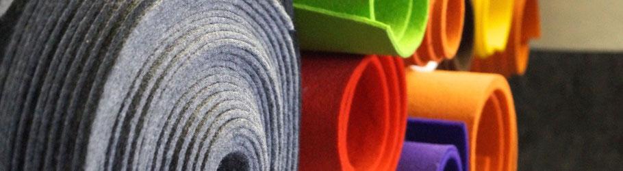 Rob&Raf Filz Material Polyester Grau Graphit Rot Grün Orange Violett