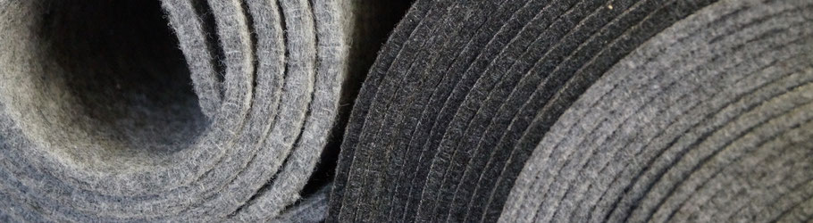 Rob&Raf Polyester Filz Material Stoff Stärke Qualität Premium Grau Graphit Schwarz
