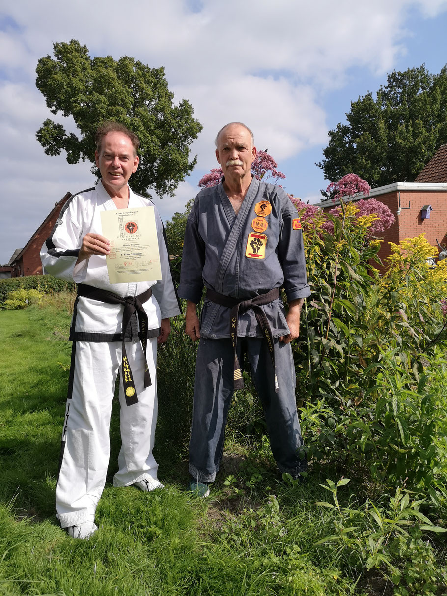 Großmeister Erich B. Ries Hennie Thijssen Taekwondo ITF Nederland