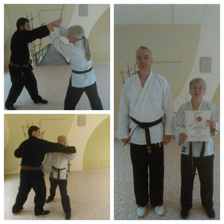 2. Dan Kenko Kempo Karate für Evelyn Brendel. Impressionen von der Prüfung.