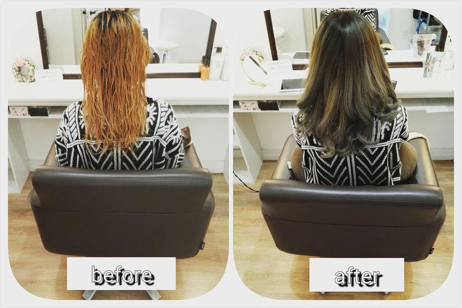 髪質改善実例紹介。高崎市吉井町の美容室ロリポップ。前橋、富岡、藤岡、安中からも通い安く人気の美容院です。