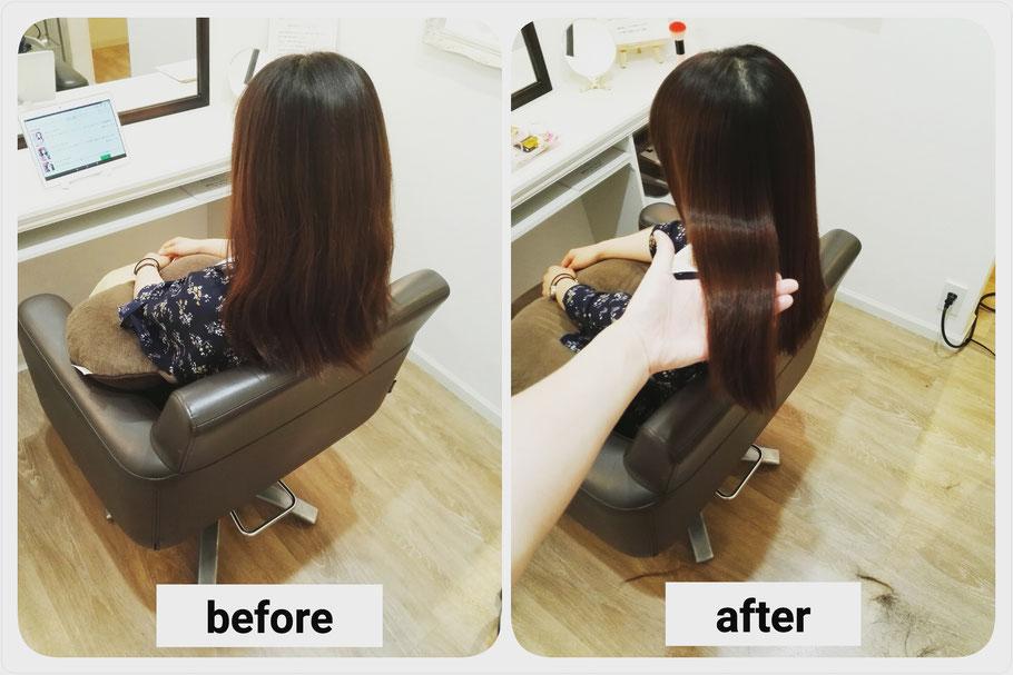 カラーエステ施術実例紹介。高崎市の髪質改善&ヘアケア美容室ロリポップ