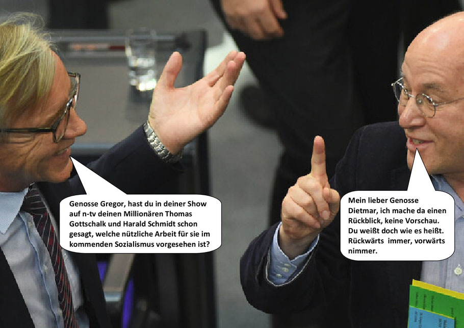 Der Gregor ist wieder da. Gregor Gysi, Außenpolitischer Sprecher, Mai 2020.