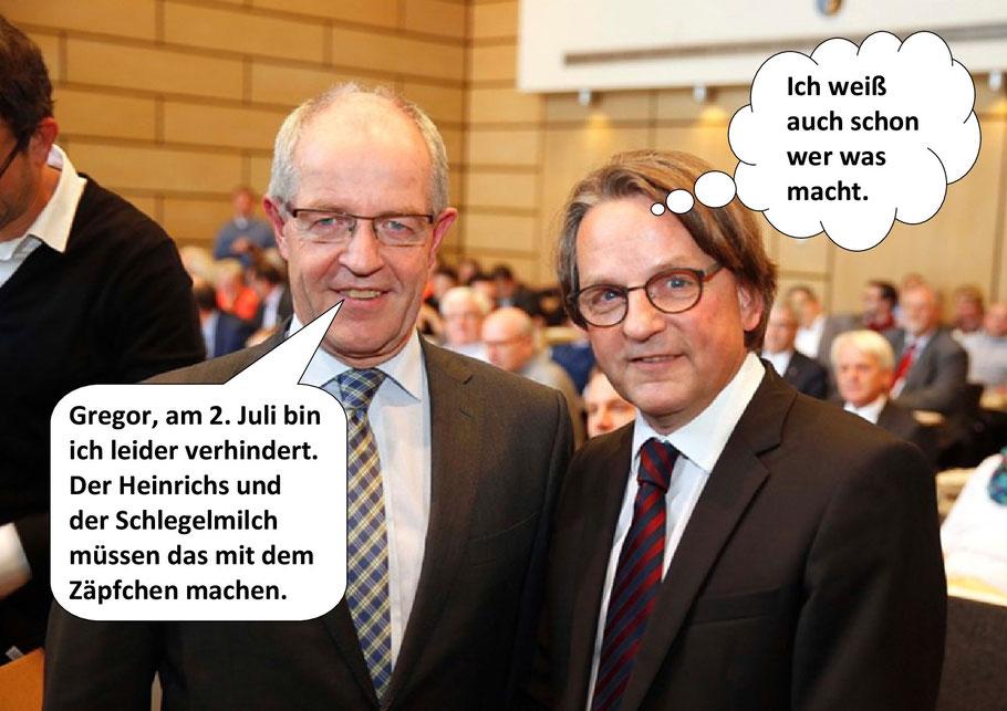 Oberbürgermeister Hans Wilhelm Reiners, Dr. Gregor Bonin. Mönchengladbach, Bild 1-2