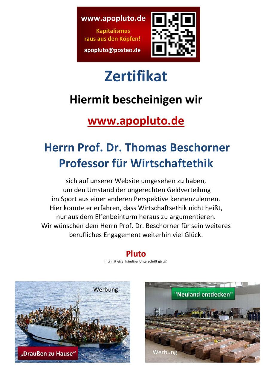 Prof. Dr. Thomas Beschorner, Universität St. Gallen, Wirtschaftsethik und anderes Gedöns.