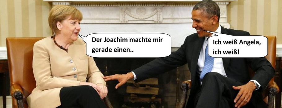 Angela Merkel und Barak Obama, NSA-Abhörskandal