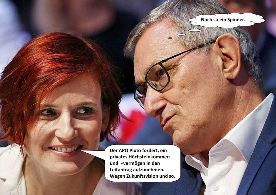 Katja Kipping und Bernd Riexinger, Die Linke; Leitantrag 2020.